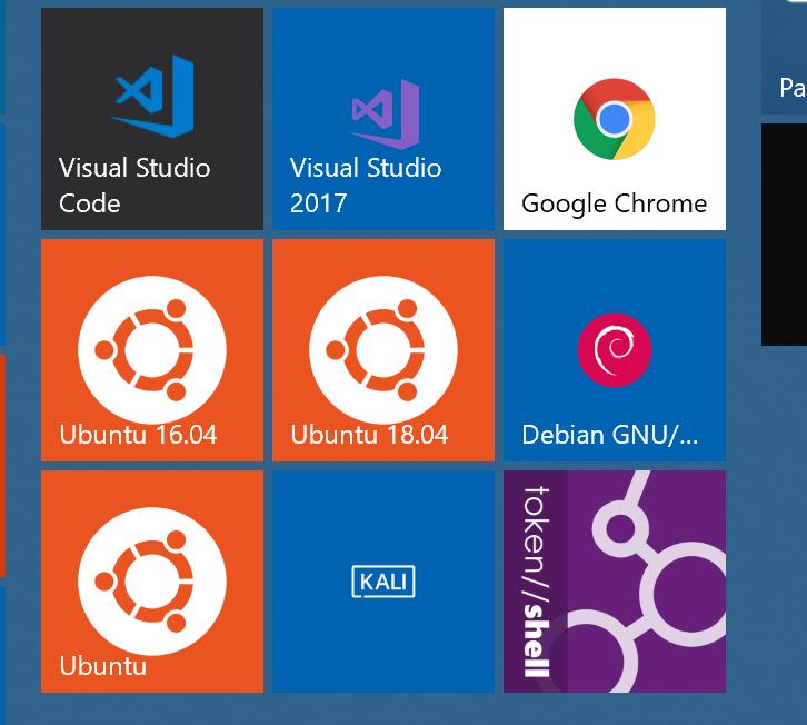Start menu tiles